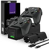 Fosmon Quad Pro 2 Cargador Compatible con Mando Xbox Series X/S, Xbox One/One...