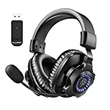 LISHIVE Auriculares Gaming Inalámbricos PS4, 2.4G Cascos Gaming Wireless...