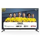 CHiQ Televisor Smart TV LED 43', Resolución 4K UHD, HDR10/HLG, Android 9.0,...