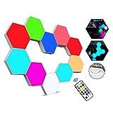 Paneles LED Hexagonal con Control Remoto, Luces LED Pared Control Táctil RGB...