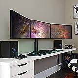 ECHOGEAR Soporte de escritorio para monitor triple para pantallas de hasta 27...