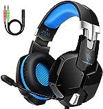 Auriculares Gaming PS4, Cascos Gaming con Micrófono, 3D Sonido y Reducción de...
