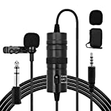HALOVIE Microfono Solapa Lavalier Condensador Omnidireccional 6M Micrófono de...