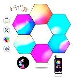 Panel LED Hexagonal Control de Aplicaciones, Paneles LED Gaming Pared...
