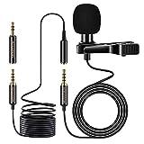 MOSOTECH Microfono de Solapa, 3.5mm Profesional Condensador Lavalier Micrófono...
