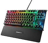 SteelSeries Apex 7 TKL - Teclado mecánico para Gaming, Compacto, Smart Display...