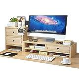 Soporte para monitor y monitor de escritorio, organizador de escritorio con 3...