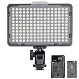 Neewer Regulable 176 LED Luz de Video 5600K en Panel de Luz de Cámara con...