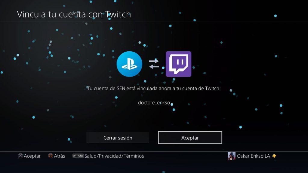 como vincular cuenta de twitch con PS4