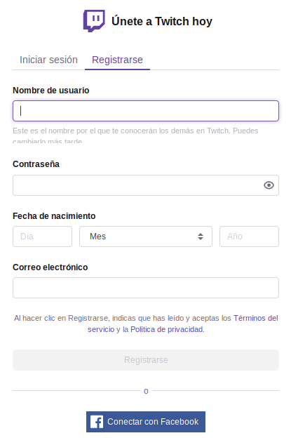 Como crear una cuenta en Twitch para hacer directos en 2019