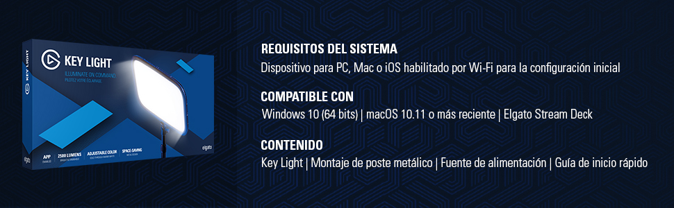 Requisitos del sistema para ELgato Key Light