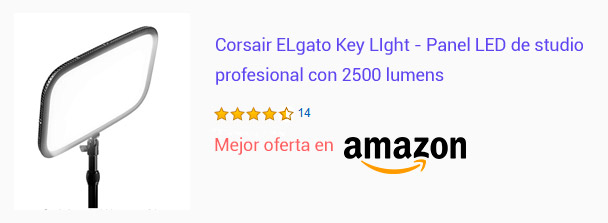 Comprar ELgato Key Light panel led de estudio profesional
