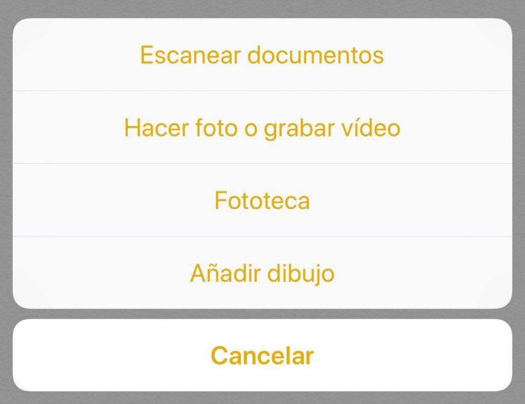 como escanear un documento desde el iphone
