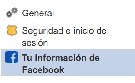 que informacion tiene facebook de mi