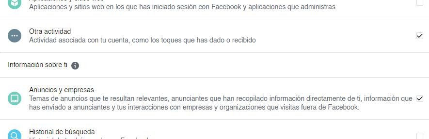 como saber la informacion que facebook tiene de mi