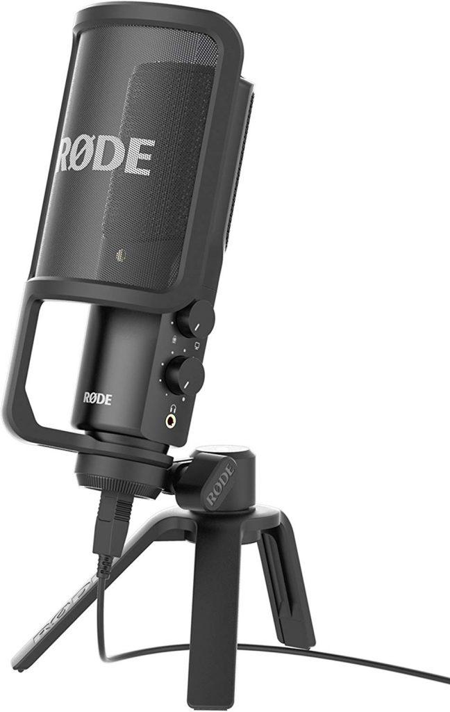 microfono de podcasting