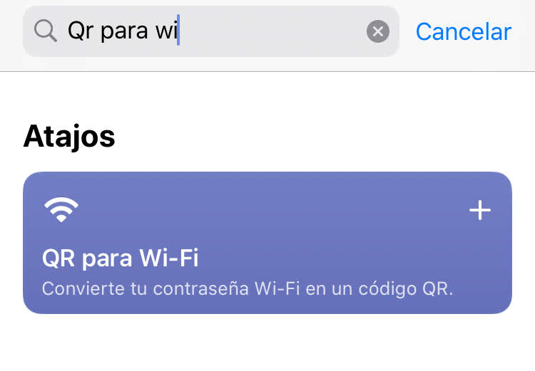 atajo iphone wifi