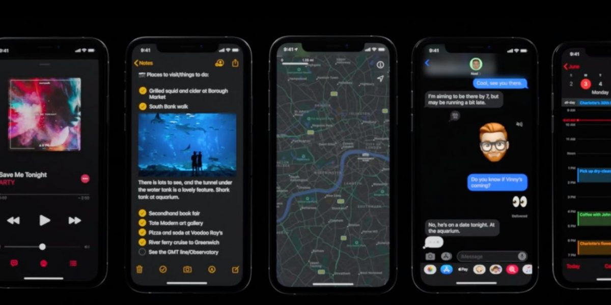 como activo el modo oscuro en mi iphone