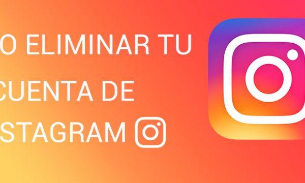 como eliminar cuenta de instagram