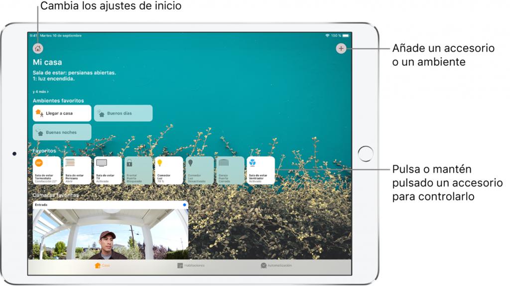 como funciona la app casa iphone
