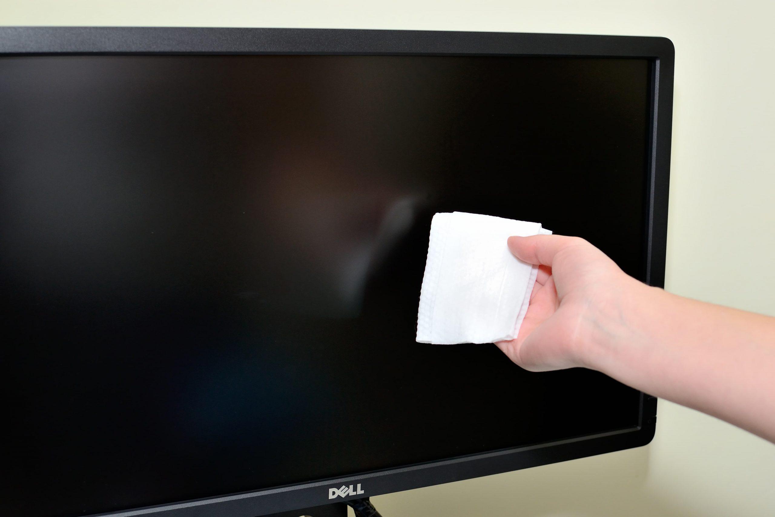 como limpiar la pantalla del ordenador