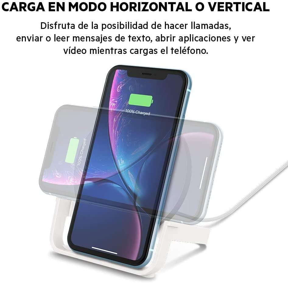 cargador inalambrico vertical para iphone