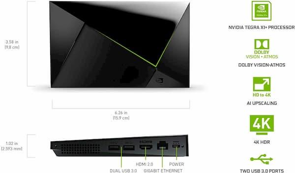 reproductor streaming nvidia shield tv