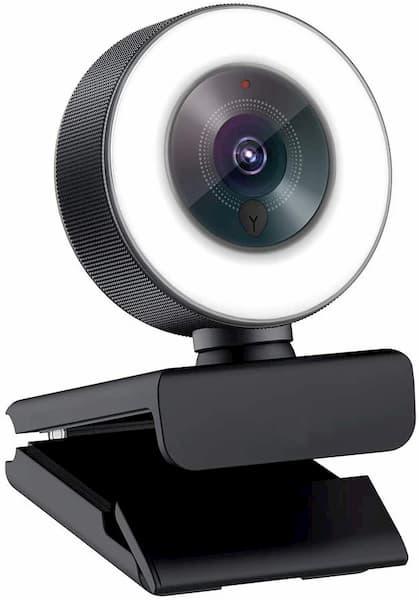 webcams con anillo de luz