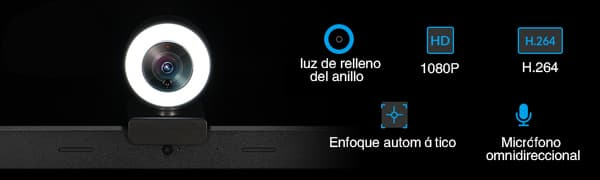 webcam 1080 con luz