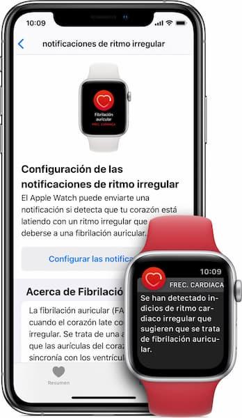 activar notificaciones de ritmo irregular apple watch