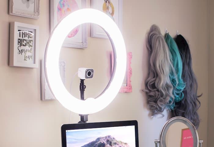 iluminación para webcam