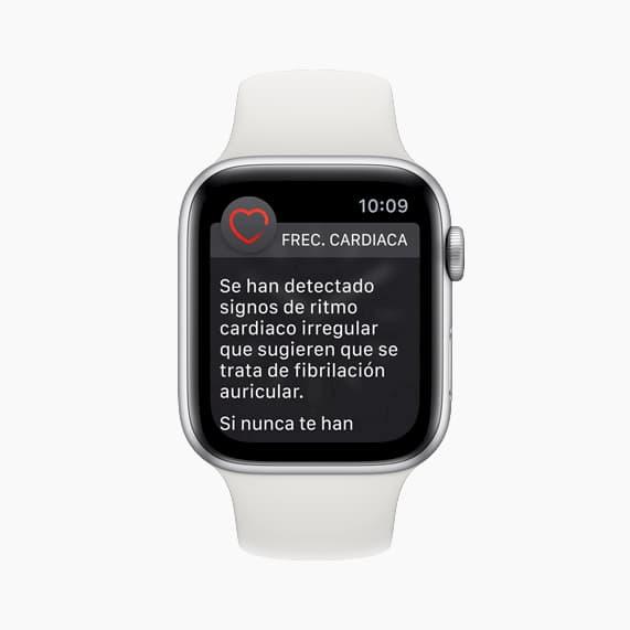 notificacion ritmo cardiaco apple watch