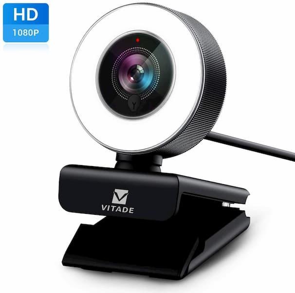 la mejor webcam con luz led