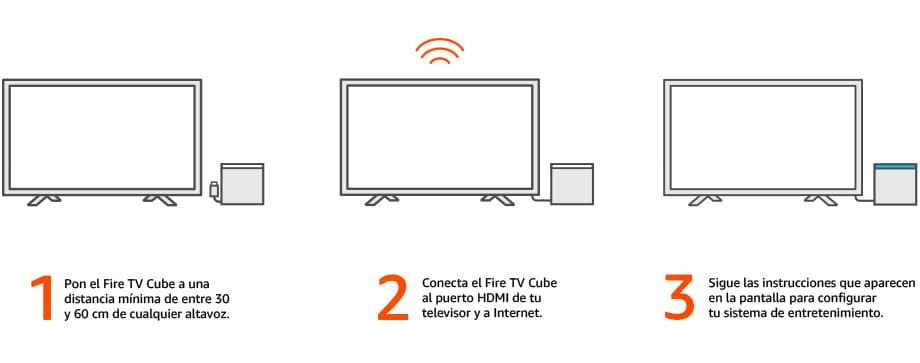 conectar fire tv cube
