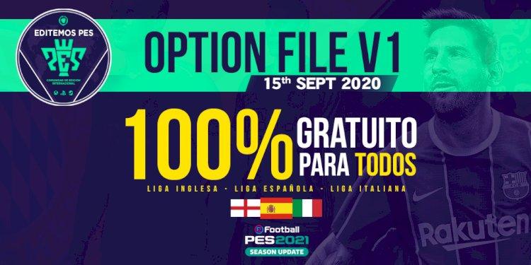 option file pes 2021