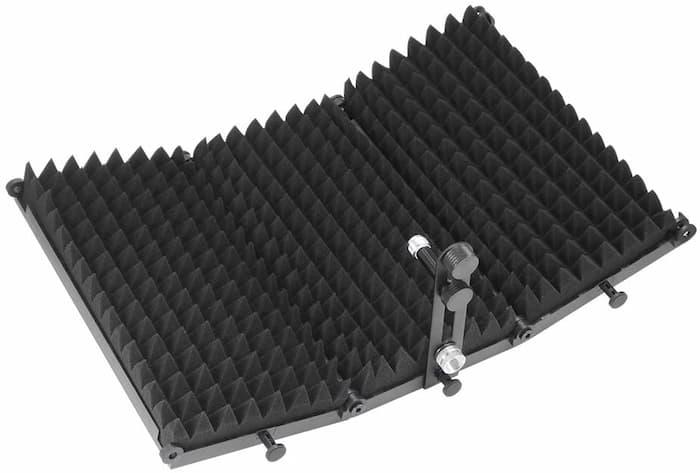 cabina aislante de microfono