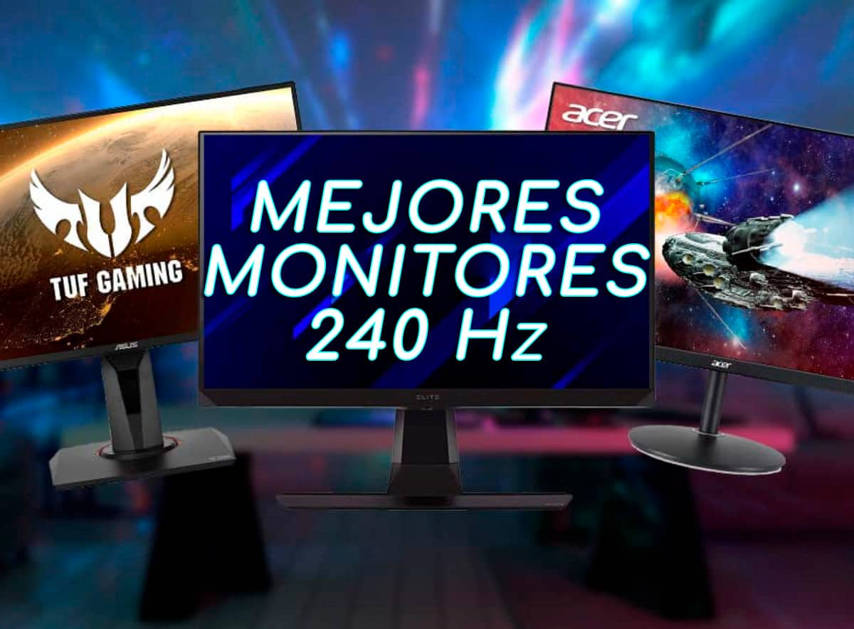 mejores monitores gaming 240hz