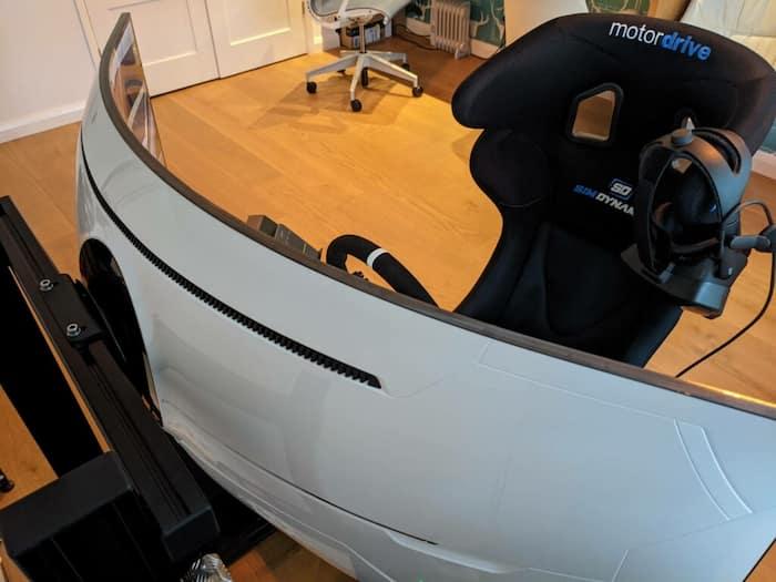 mejor pantalla curva para simracing