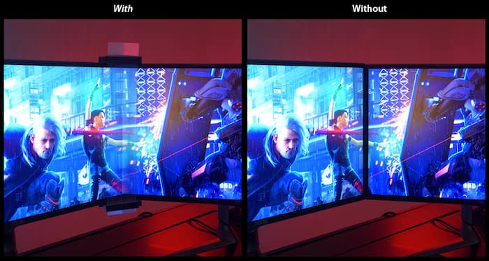 eliminar marcos entre monitores