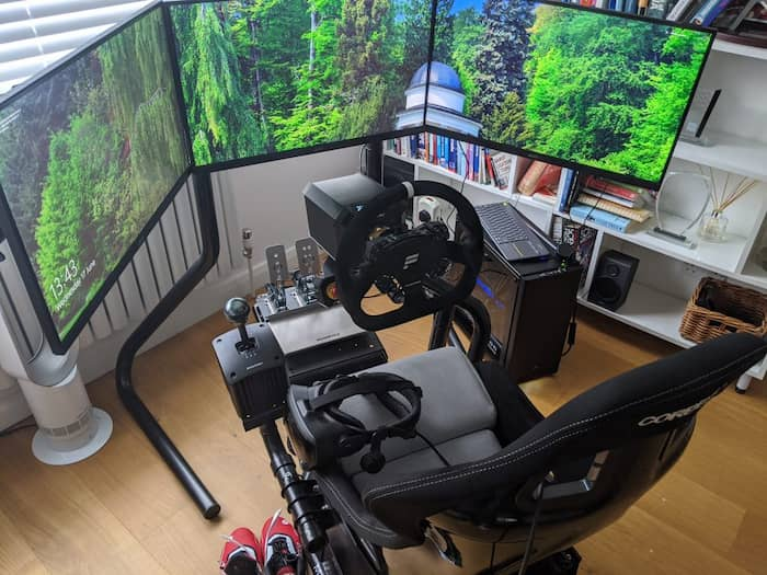monitores de triple pantalla para simracing