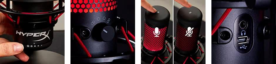 microfono con luces para streaming