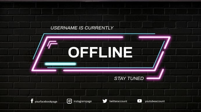 medida imagen pantalla offline twitch