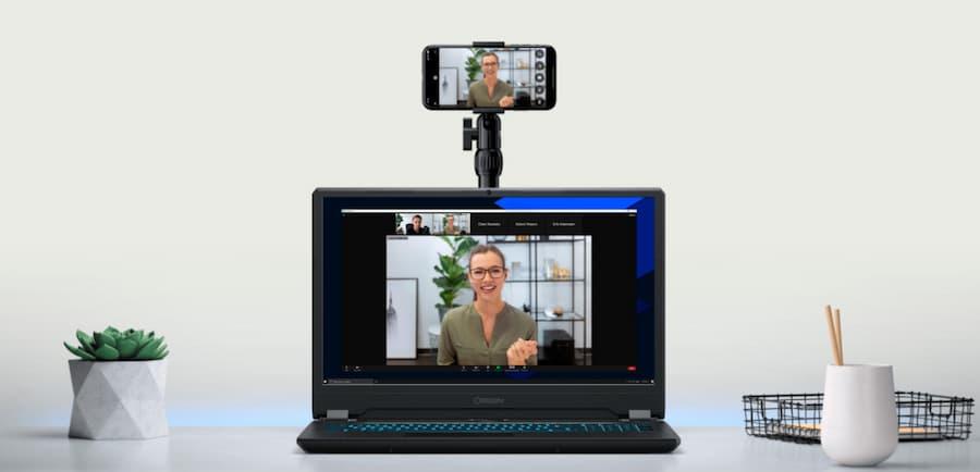 utilizar iphone como webcam