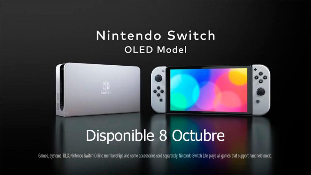 fecha lanzamiento nintendo switch oled