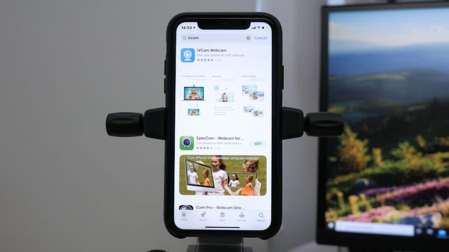 usar telefono movil como camara web
