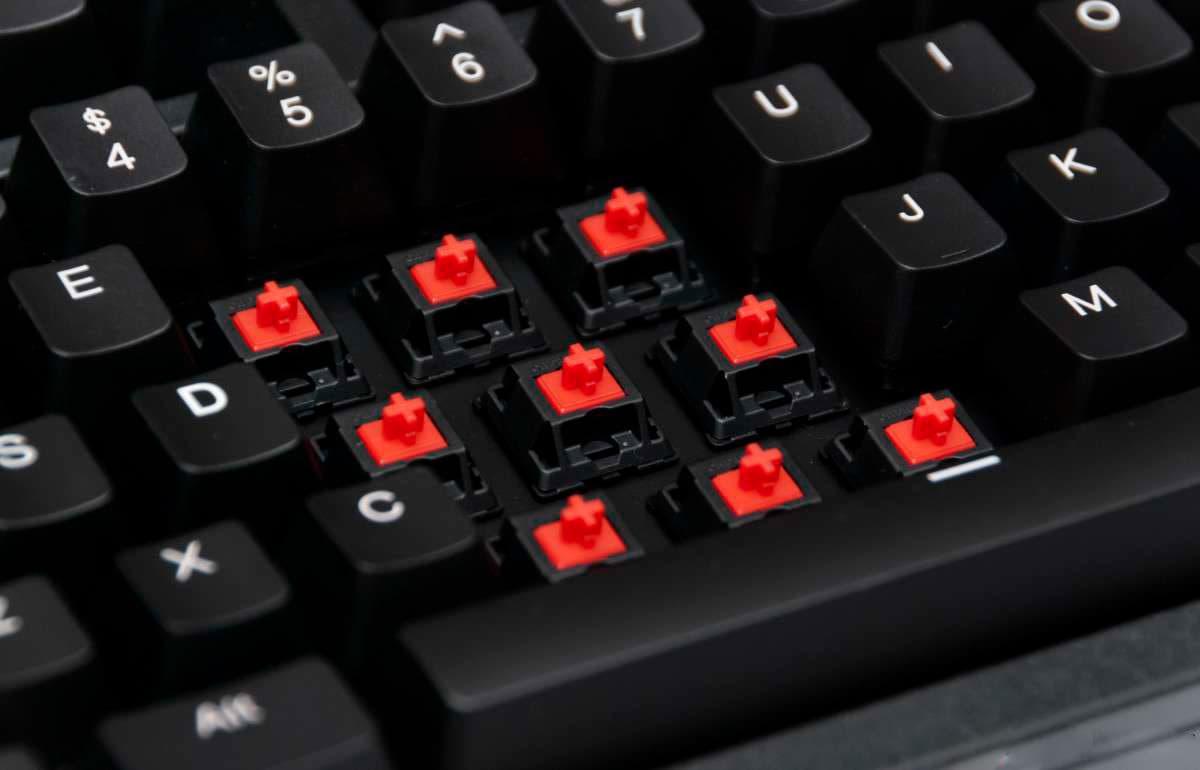 teclado con cherry mx red