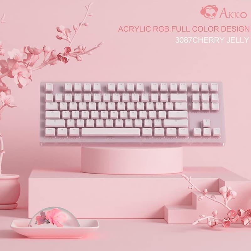 teclados rosa cherry mx red